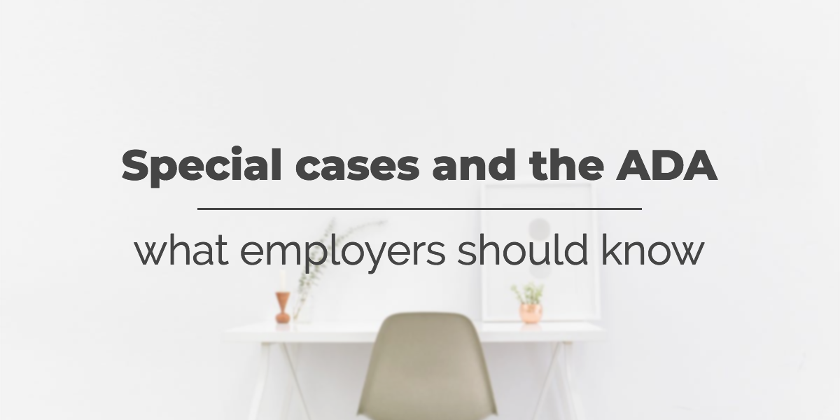 ADA-special-cases