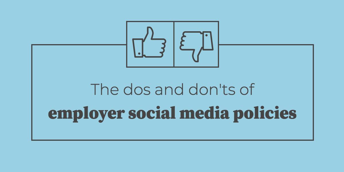 employer social media policies