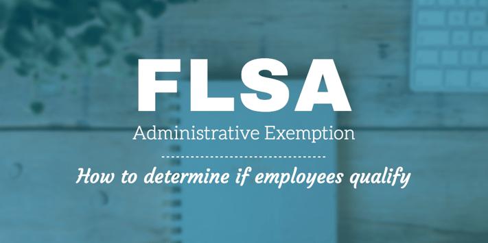 flsa administrative employee exemption