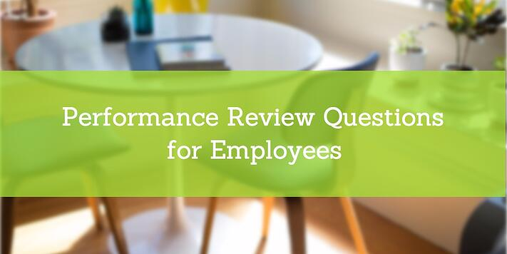 employee performance review questions examples